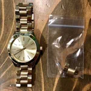 Michael Kors Slim Runway Gold-Tone Watch (MK3512)